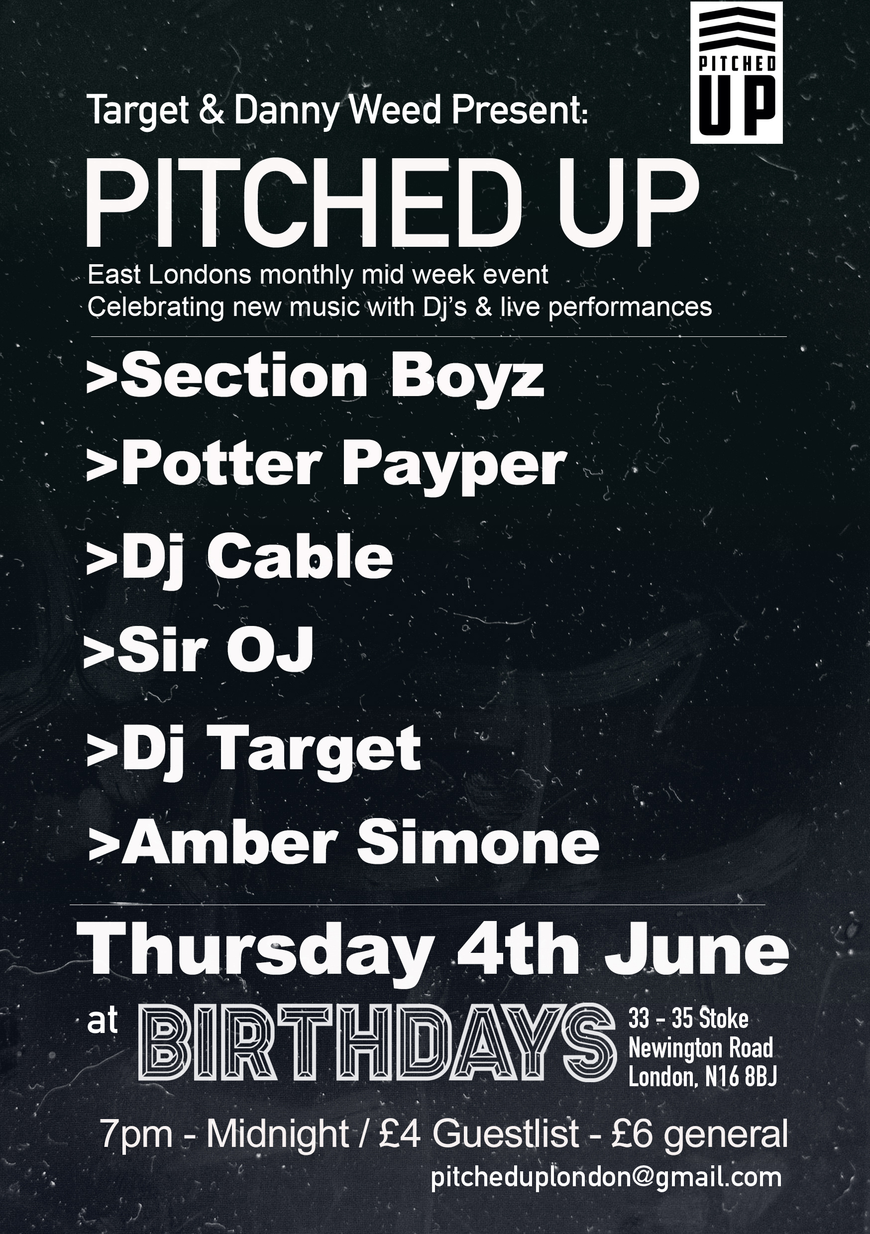 pitched up flyer